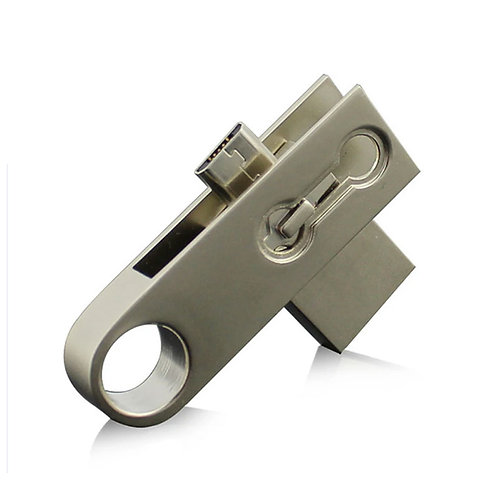 Rotating Metal OTG Pen Drive