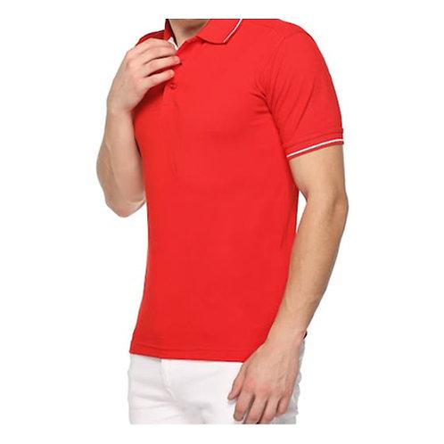 Highline Premium Tipped Polo Neck T-Shirt