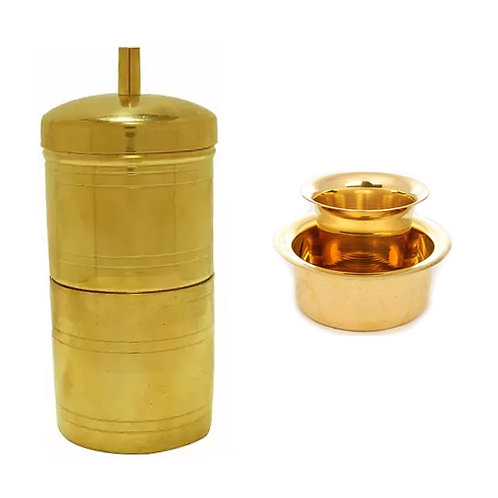 Brass Coffee Filter Set