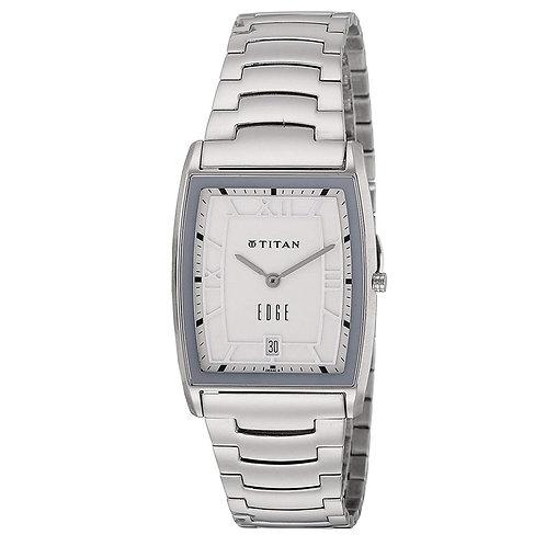 Titan Edge Analog Silver Dial Men's Watch-NK1684SM01