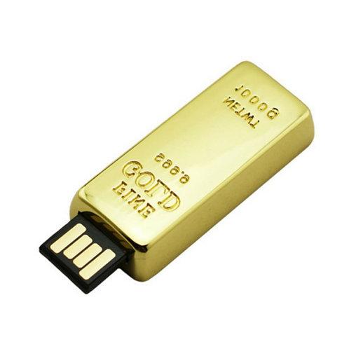 Gold Bar Metal Pen Drive