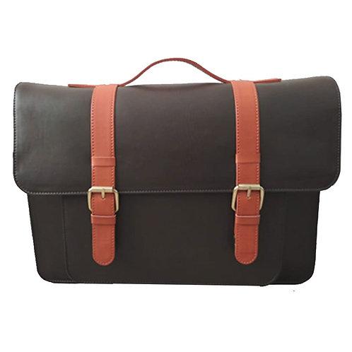 PU Satchel Laptop Messenger Bag