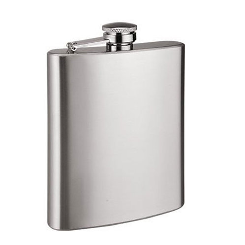 Hit Play Stainless Steel Hip Flask 8oz