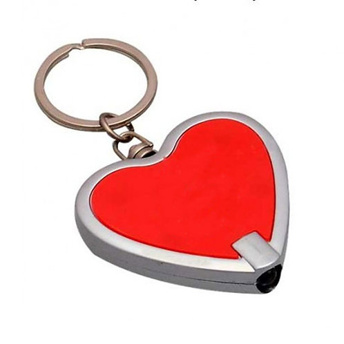 Heart Shape Metal Keychain with Torch