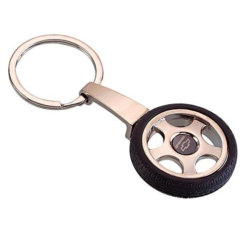 Metal Tyre Shape Keychain