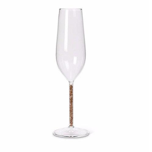 Glittered Stem Glass Flute