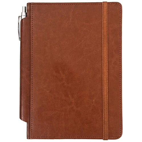 Brown Leatherite Customized Notebook