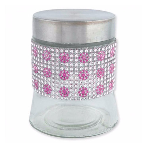 Diamond Glass Jar