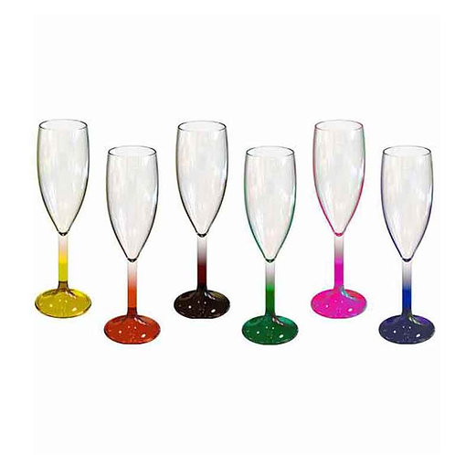 Rainbow Collection Champagne Flute - Set of 6