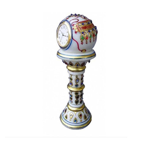 Marble Table pillar Clock