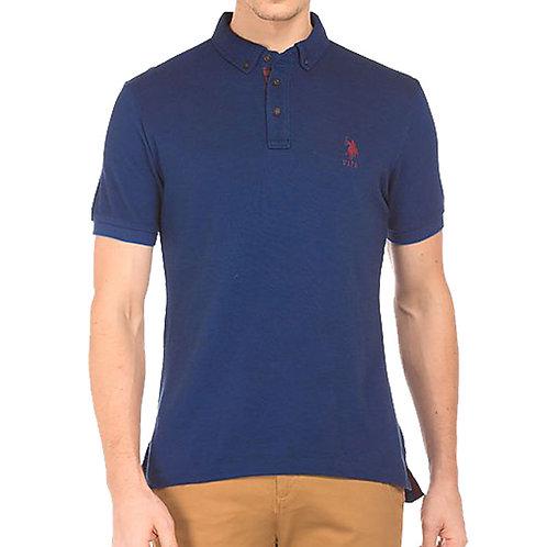 U.S. POLO ASSN. Mens Blue Polo Neck T-Shirt