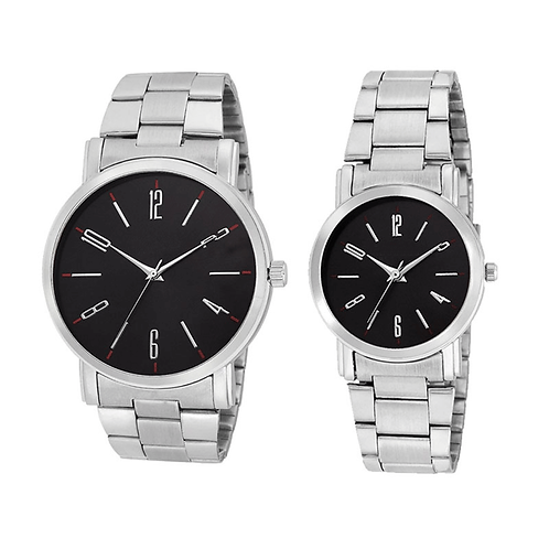 Black Color Analog Couple's Watch