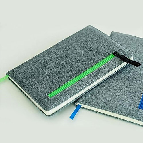 The Deputy A5 Cotton Notebook with Zipper Pocket