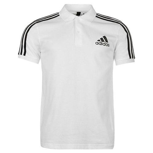 Adidas 3 Stripes Polo Neck T-Shirt