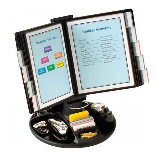 Executive Document Holder with Supply Trays