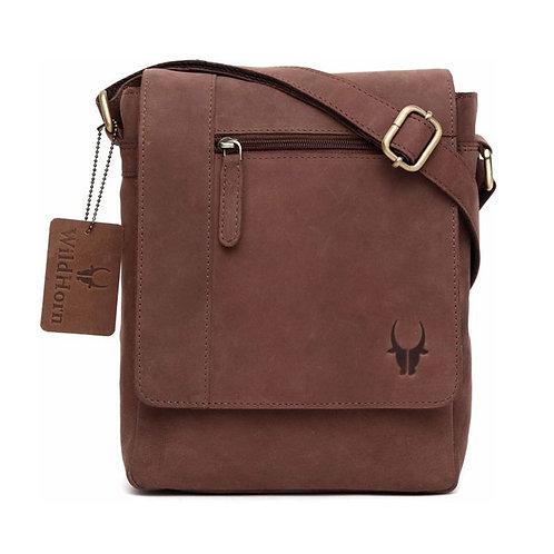 WildHorn Leather Brown Messenger Bag - 2