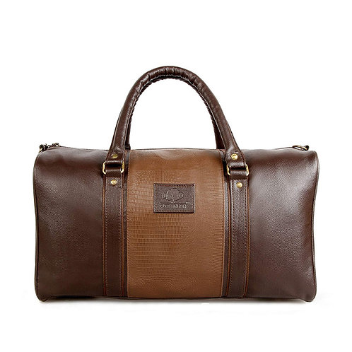 Ambiance Series Unisex Synthetic Brown Duffel Bag