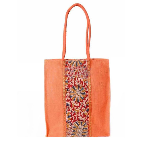 Jute Bag with Kalamkari Design