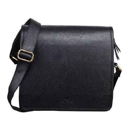 Leather Sling Bag - Black