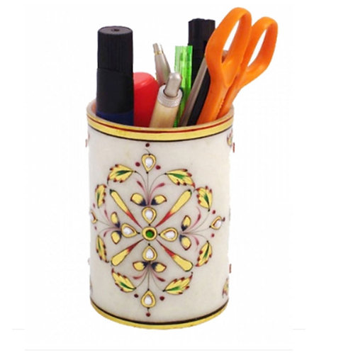 Marble Pen Holder Exclusive Gold Work