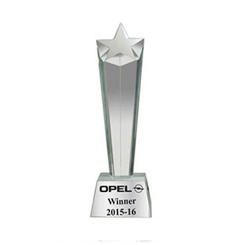 Crystal Star Corporate Trophy