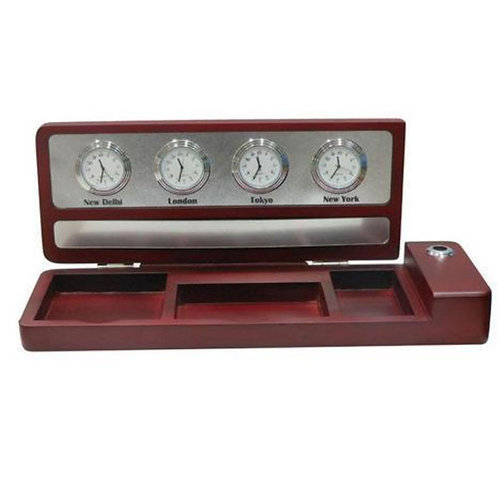 Table Top Clock with World Time Clock