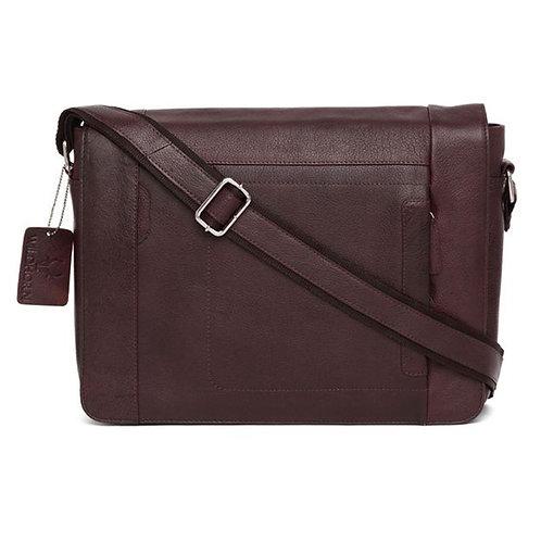 WildHorn Urban Edge Leather Brown Laptop Bag