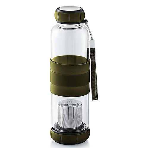Glass n Stainless Steel Bottle