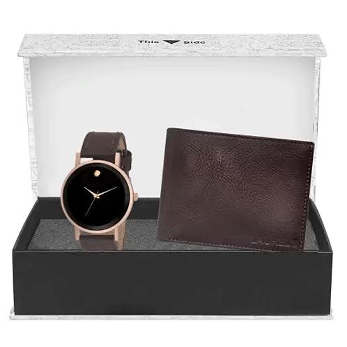 Analog Watch & Wallet Combo