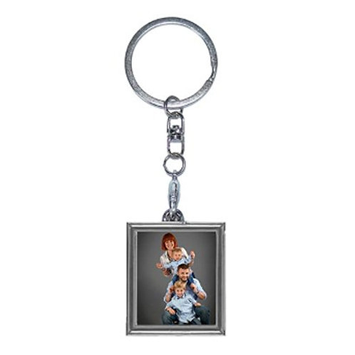 Photo Frame Metal Keychain