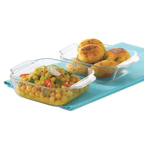Borosil Mini Square Dish Set