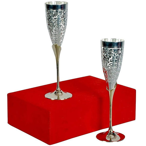 Goyam Silver Plating Wine Glass Set