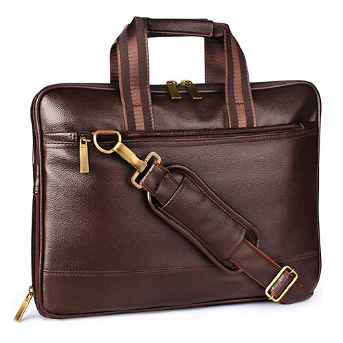 Vegan Leather Multi-Function Laptop Bag