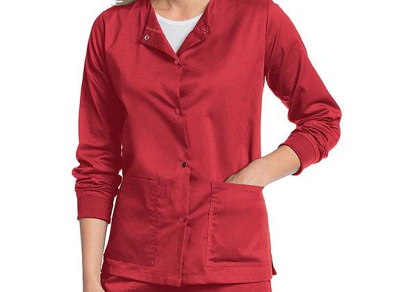 Landau Women's All Day Snap Front Warm-Up Scrub Jacket