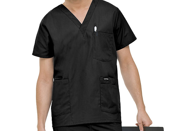 Landau Men's Five-Pocket Scrub Top