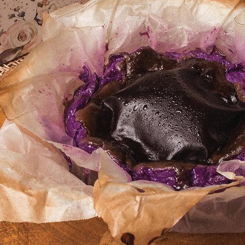 Puto Bumbong Burnt Basque Cheesecake