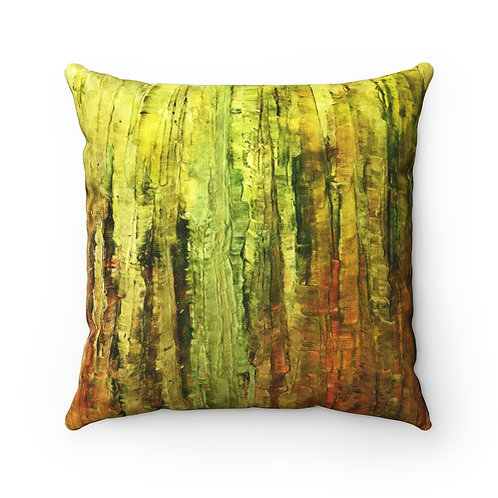 Stillness to Elysian Spun Polyester Square Pillow