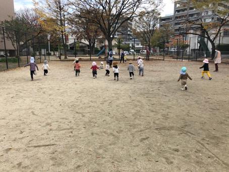 公園で遊んだよ♪