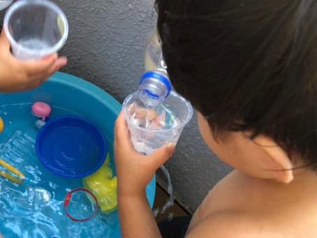 楽しい水遊び!