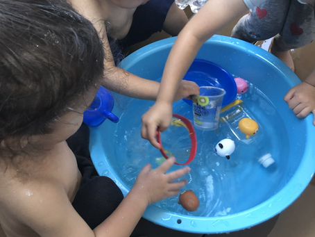今年初めての水遊び❗️