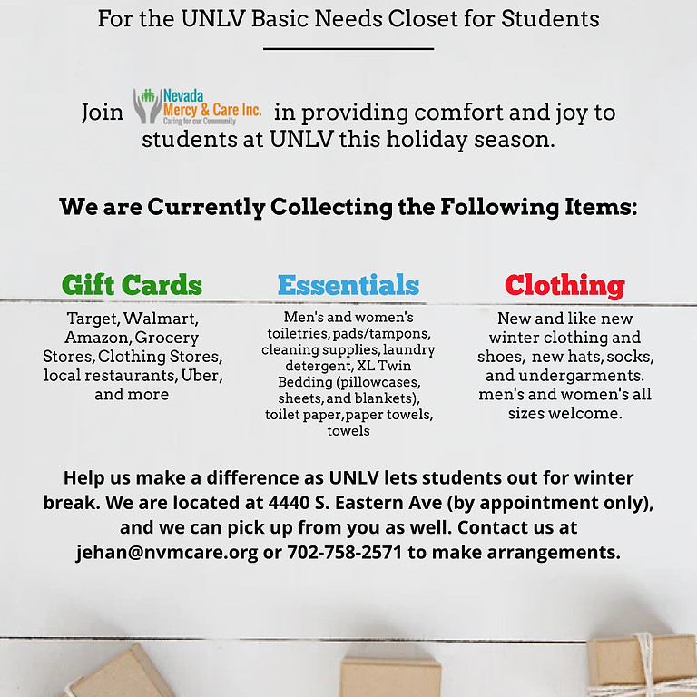 Gathering Supplies for Students in Need
