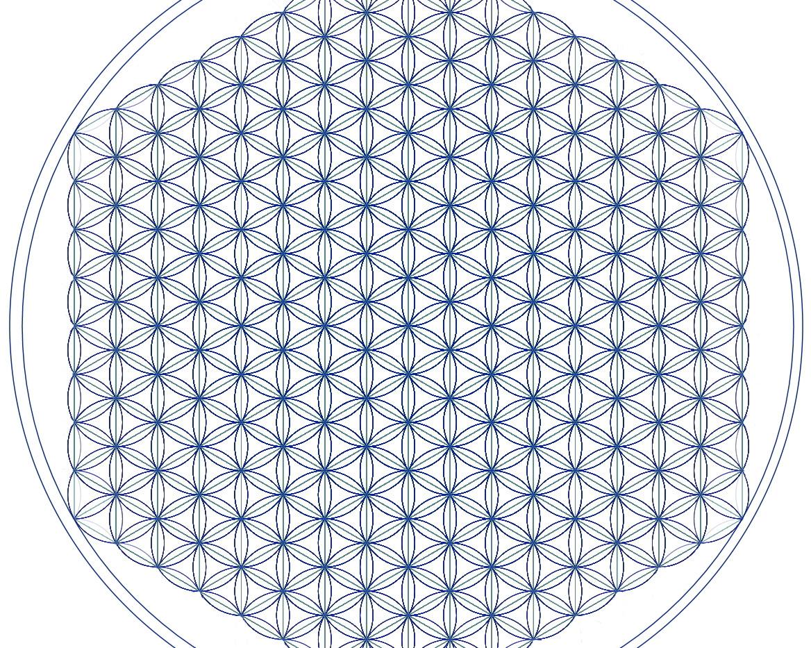 fleur de vie PAO - bleue