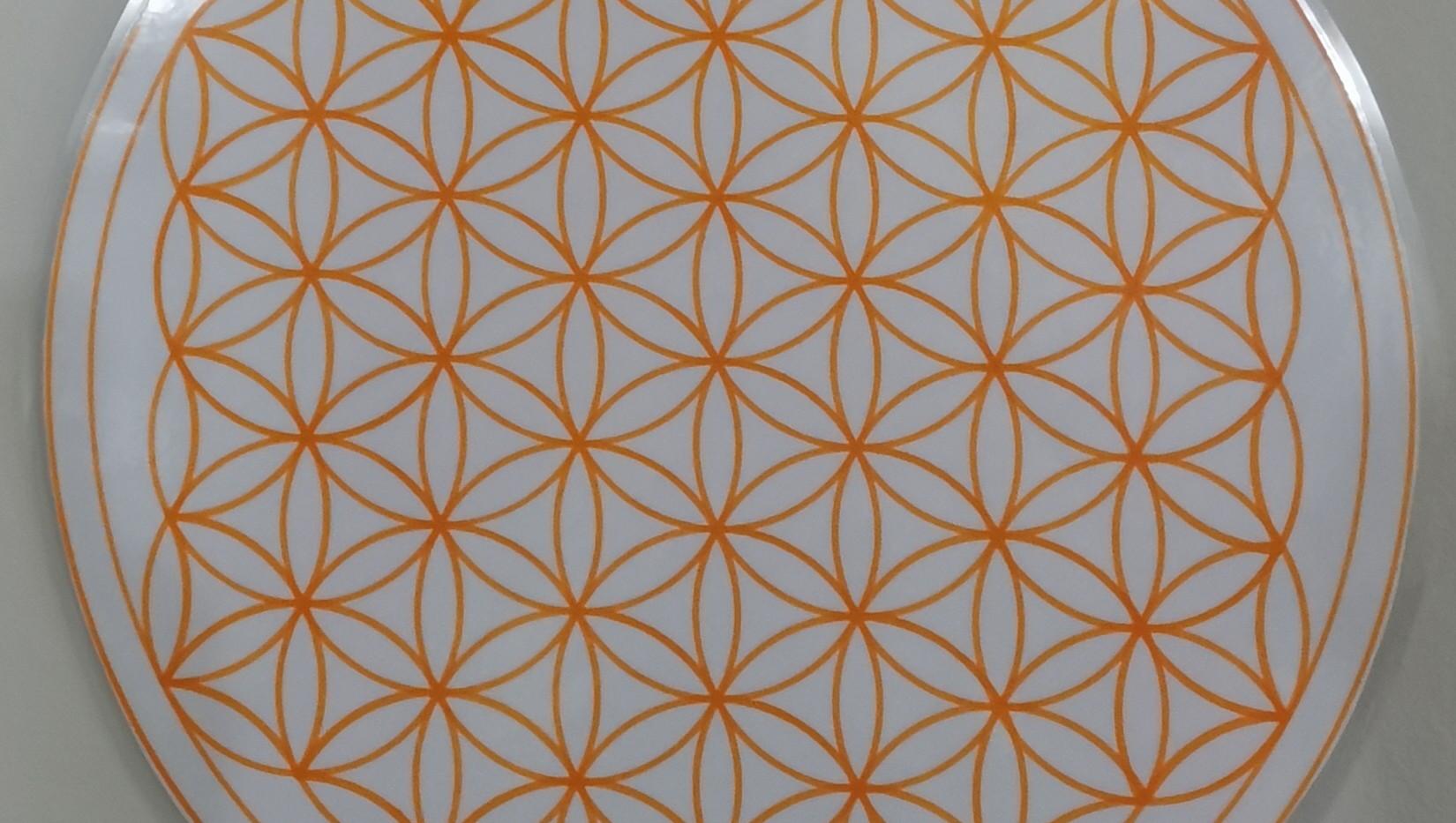 Fleur de vie main - Orange