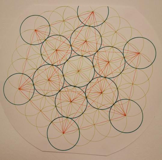 Etude - Fleur de vie et cube de Metatron