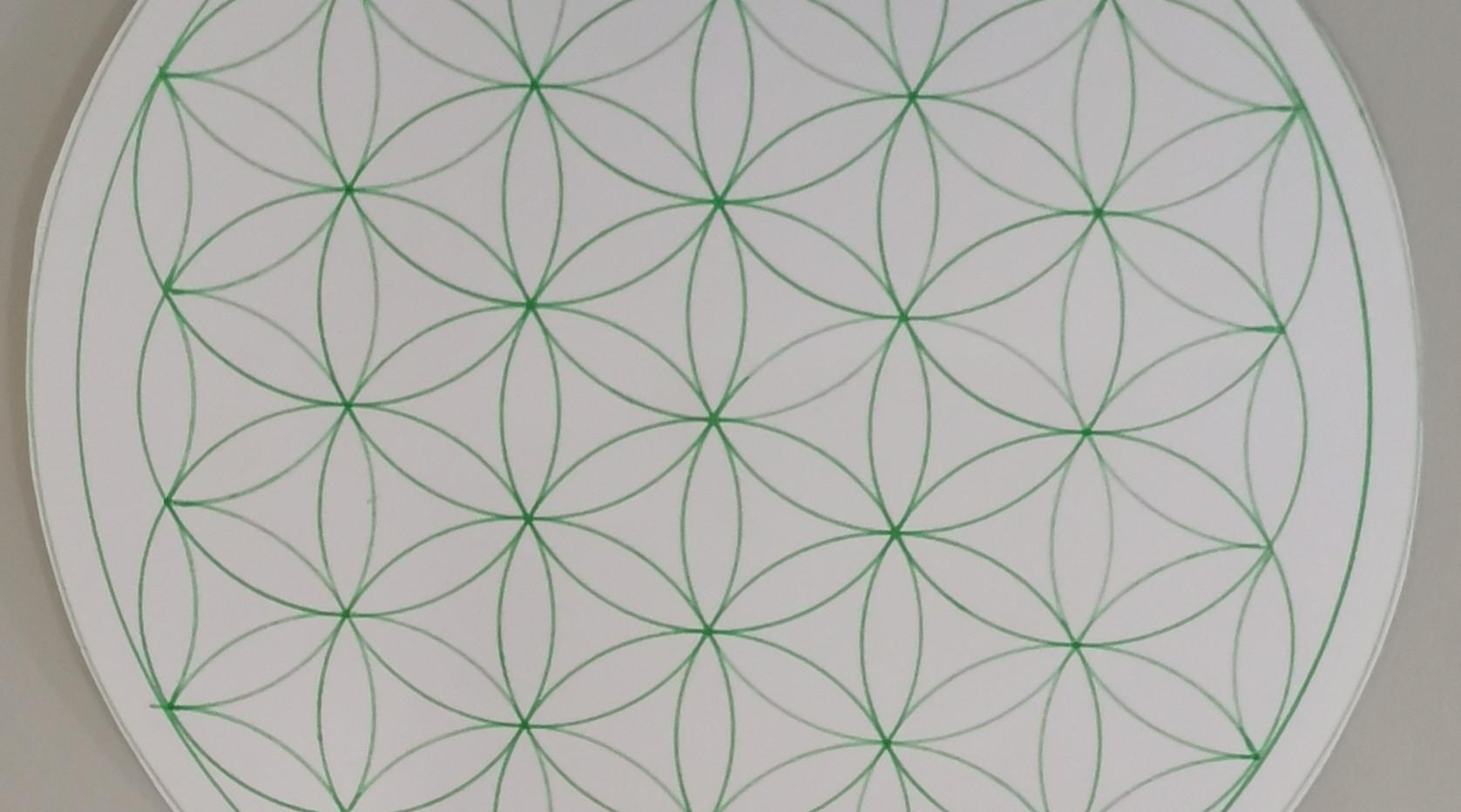 Fleur de vie main - Verte