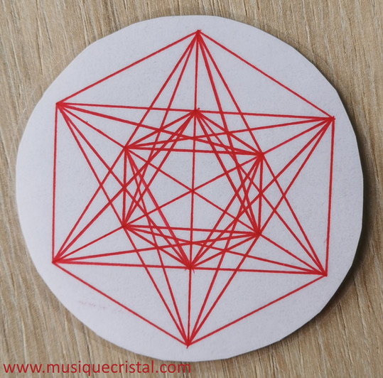 Cube de metatron main - Rouge