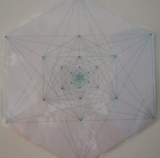Cube de métatron fractale main