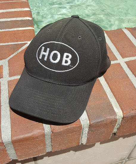 Flex-Fit Hat with the HOB one color logo
