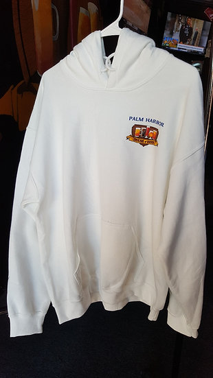 Hooded Sweat Shirts with Full Color Log on the Back and Front Pocket Area