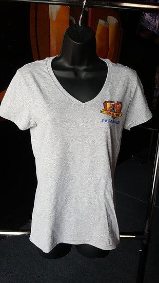 Women's Gildan V-Neck T-Shirts Full Color Logo